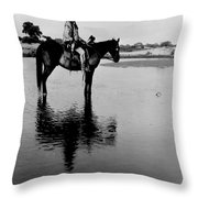 The Lone Chief Cheyenne Native American Throw Pillow