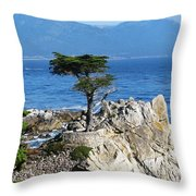 The Lone Cypress Throw Pillow