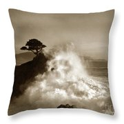 The Lone Cypress Midway Point Pebble Beach  Lewis Josselyn  Circa 1916  Throw Pillow