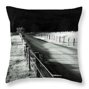 The Lone Photographer Throw Pillow