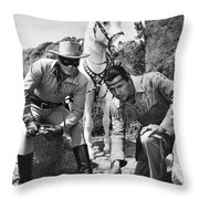 The Lone Ranger And Tonto Throw Pillow