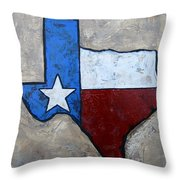 The Lone Star State Throw Pillow