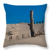 The Lonely Driftwood Throw Pillow