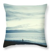 The Lonely Fisherman Throw Pillow