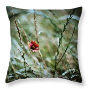 The Lonely Flower Throw Pillow