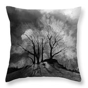The Lonely Grave Throw Pillow