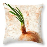 The Lonely Onion Throw Pillow