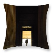 The Lonely Parisian Throw Pillow