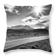 The Lonely Road Throw Pillow