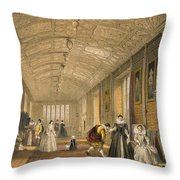The Long Gallery At Lanhydrock Throw Pillow