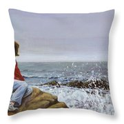The Long Goodbye Throw Pillow by Don Perino