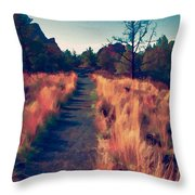 The Long Path Throw Pillow