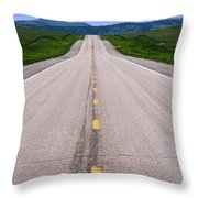 The Long Road Ahead Throw Pillow