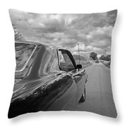 The Long Road Home - Ford Torino Cobra Jet Throw Pillow