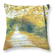 The Long Road Home - Oil Throw Pillow