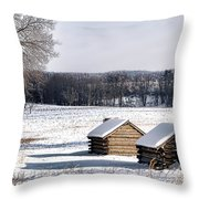 The Long Winter Throw Pillow by Olivier Le Queinec