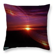 The Longest Sunset Throw Pillow