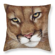 The Look Cougar Throw Pillow