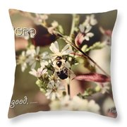 The Lord Is Good Throw Pillow