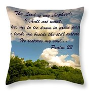The Lord Is My Shepard Throw Pillow