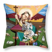The Lord Is My Shepherd Throw Pillow by Anthony Falbo