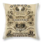 The Lords Prayer Throw Pillow by Bill Cannon