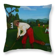 The Lost Ball Throw Pillow