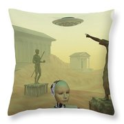 The Lost City Of Atlantis Throw Pillow
