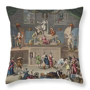 The Lottery, Illustration From Hogarth Throw Pillow