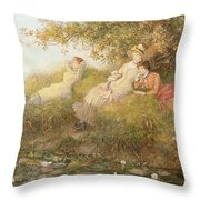 The Lotus Eaters, 1893 Throw Pillow