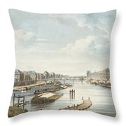 The Louvre, From Views On The Seine Throw Pillow