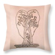 The Love And Celebration Of The Maple Tree Family Throw Pillow