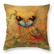 The Love Bird Throw Pillow by Karin Taylor