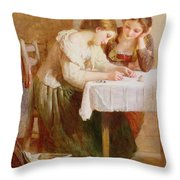 The Love Letter, 1871 Throw Pillow