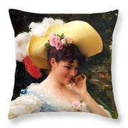 The Love Letter Detail Throw Pillow