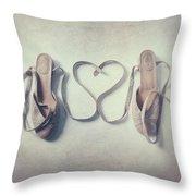 The Love Of A Ballerina Throw Pillow