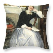 The Love Token Throw Pillow