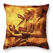 The Loving Etruscan Couple Vanished Civilisations Throw Pillow