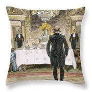 The Lucky Rich, 1896 Throw Pillow