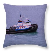 The Lunch Bucket Boat Throw Pillow