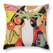 The Lute Player Throw Pillow