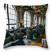 The Machine Shop Throw Pillow