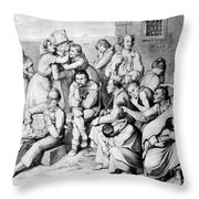 The Madhouse Throw Pillow