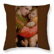 The Madonna Of The Chair Throw Pillow