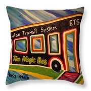 The Magic Bus Throw Pillow