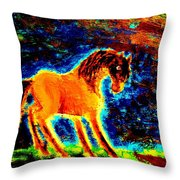 The Magic Horse Will Talk To You But Will You Understand  Throw Pillow