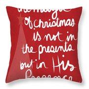 The Magic Of Christmas- Greeting Card Throw Pillow