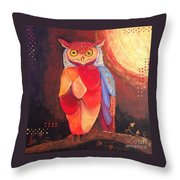 The Magical Mystical Owl Throw Pillow