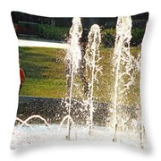 The Magical World Of A Boy With His Father Throw Pillow