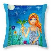 The Magicians Daughter Throw Pillow